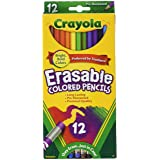 Crayola 12ct Erasable Colored Pencils (Color: Assorted., Tamaño: Pack of 1)