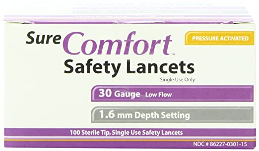 Easy Comfort Lancets Sure Comfort Safety Lancet