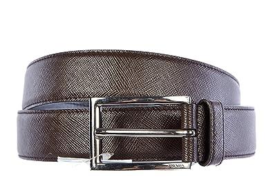 Prada cintura uomo vera pelle nuova originale saffiano marrone EU ...