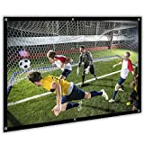 84 inch Projector Screen 16:9 HD Portable Projection Movies Screen for Home Theater Outdoor Indoor, Upgrade Material (Color: 84inch)