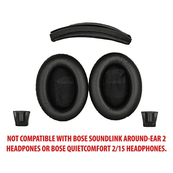Replacement Ear Pads and Headband Cushion pad for Bose Quiet Comfort QC25 QC35 QC15 QC2 AE2 AE2i AE2w SoundTrue SoundLink Headphones Grey