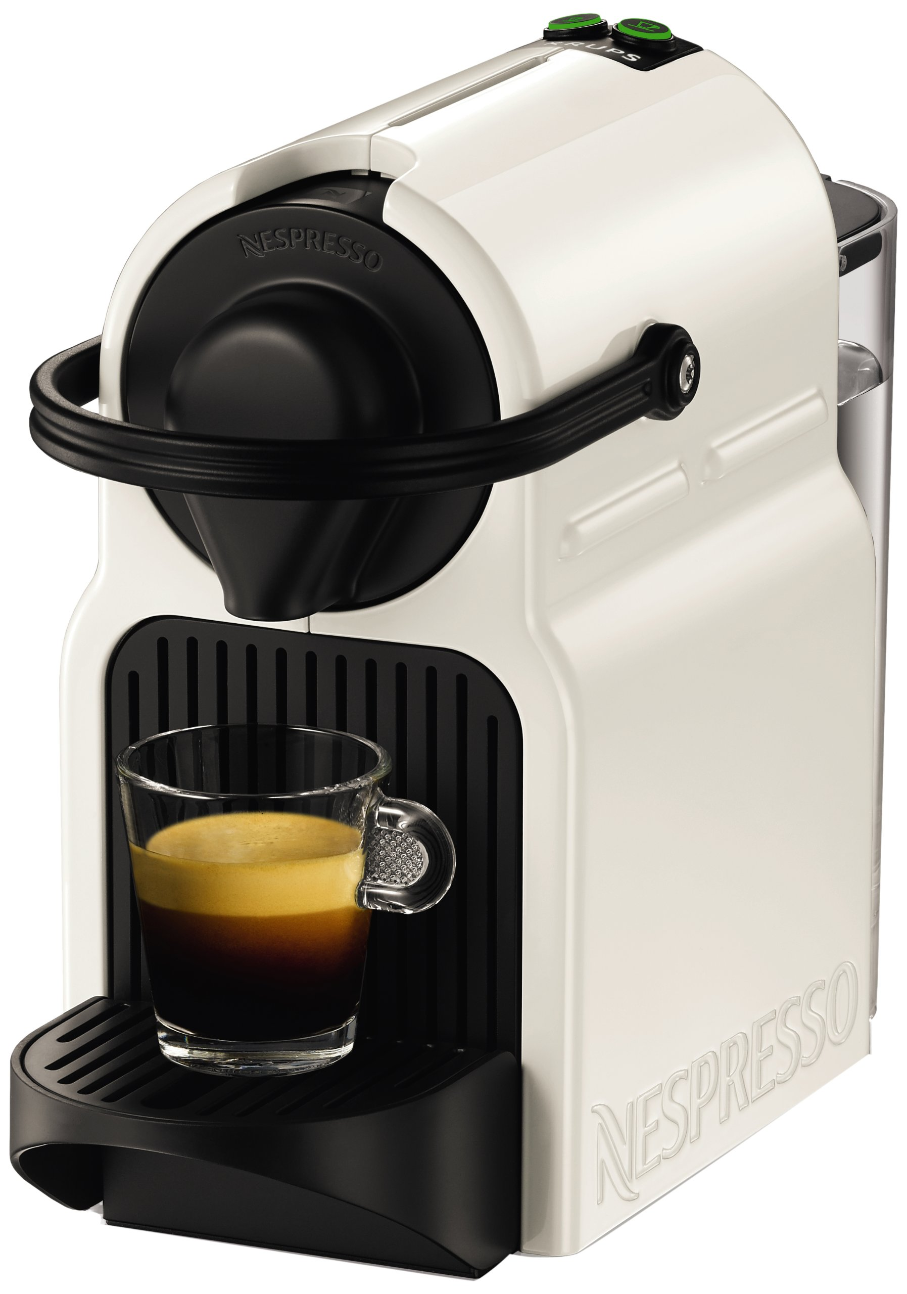 nespresso inissia coffee capsule machine by krups white white ebay. Black Bedroom Furniture Sets. Home Design Ideas