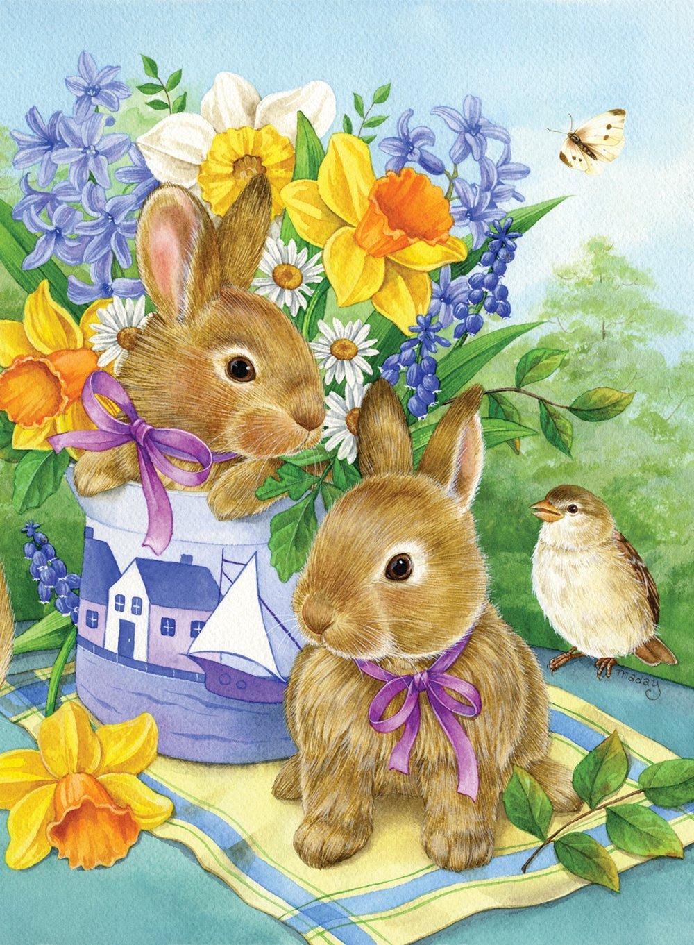 Toland Home Garden 112560 Bunny Bouquet Decorative Garden