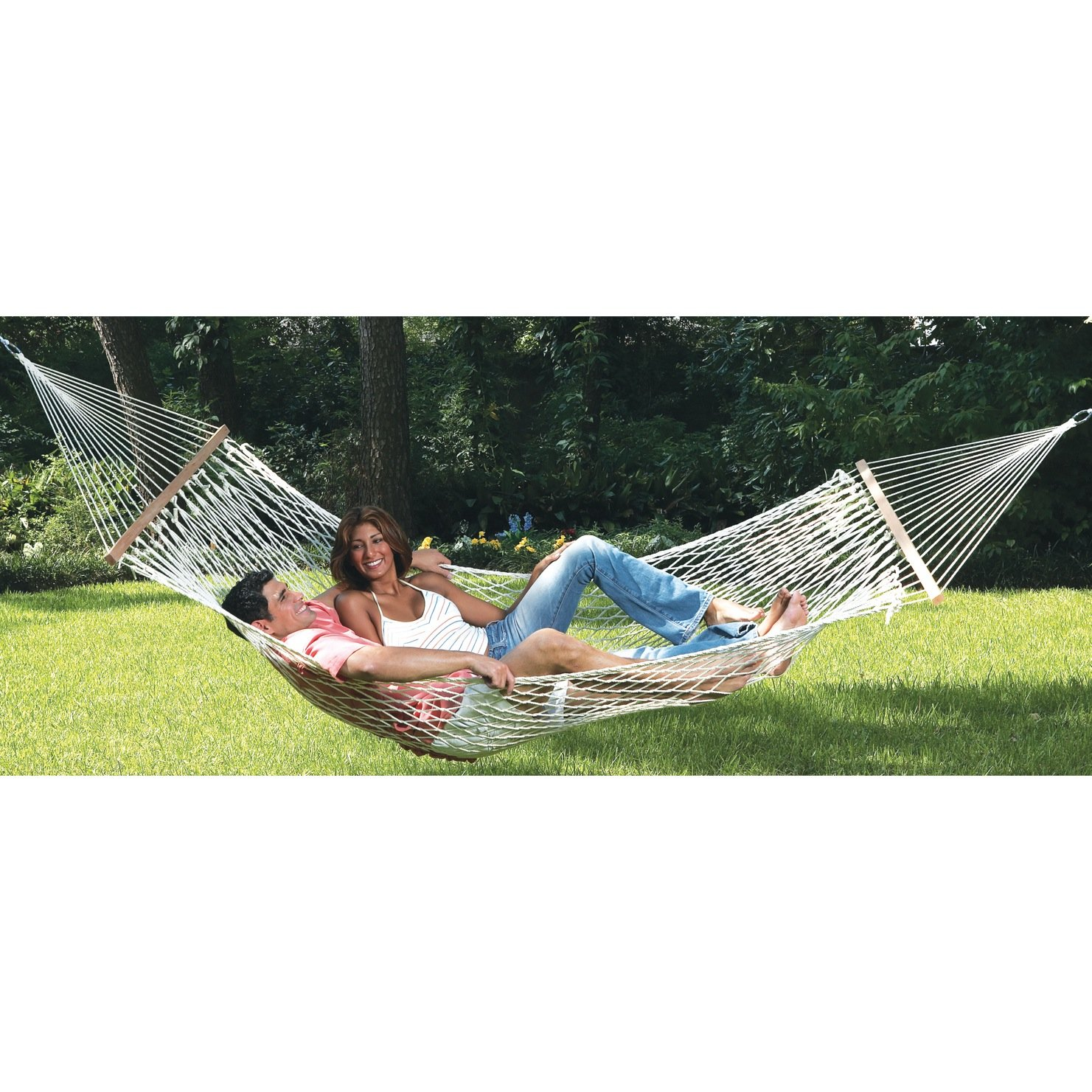 Hammock 2 Person Double Size Cotton Rope Bed Heavy Duty