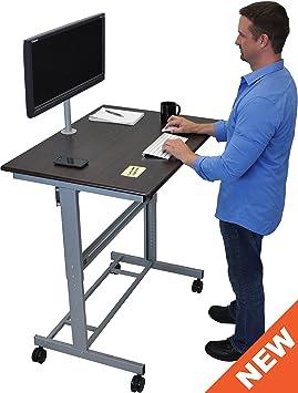 40 Mobile Adjustable Height Stand Up Desk
