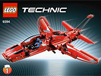LEGO Technic - 9394 - Jeu de Construction - L'Avion Supersonique