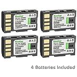 Kastar Battery 4-Pack for JVC BN-VF808 BN-VF808U and GR-D853 GR-D870 GR-D875 GR-DA30 GS-TD1 GY-HM70 GY-HM100 GY-HM100U GY-HM150 GY-HM170U GZ-HMZ1 GZ-MG130 GZ-MG131 GZ-MG132 GZ-MG133 GZ-MG134 GZ-MG133