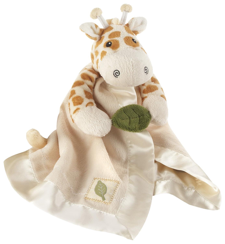 Baby Aspen Little Expeditions Plush Rattle Lovie with Crinkle Leaf, Jakka The Giraffe