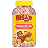 L'il Critters Calcium Gummy Bears with Vitamin D3, 150 Count (Tamaño: 150)