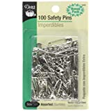 Dritz 1460 Safety Pins, Nickel Plated Steel, Assorted Sizes (100-Count) (Color: Nickel Plated Steel, Tamaño: Assorted Sizes)
