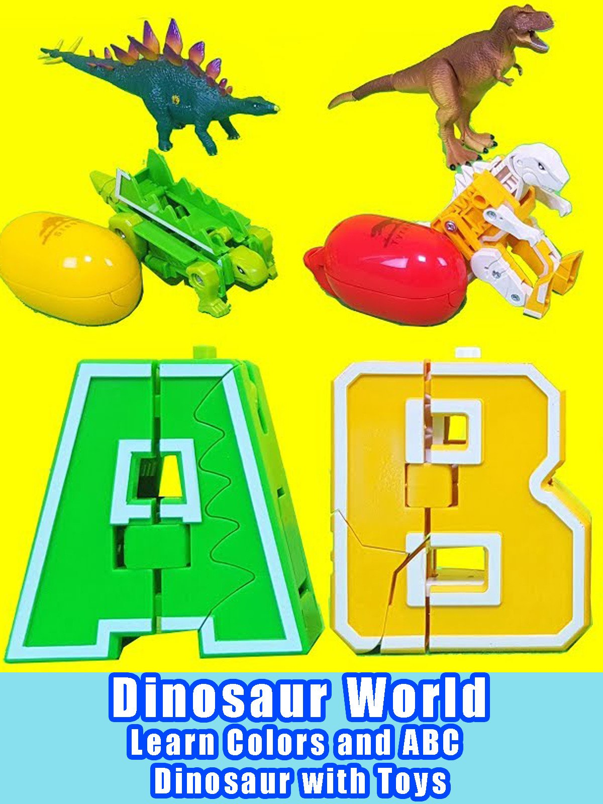 Dinosaur World - Learn Colors and ABC Dinosaur with Toys