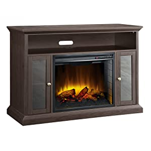 Pleasant Hearth 23-inch Riley Espresso Media Electric Fireplace width=