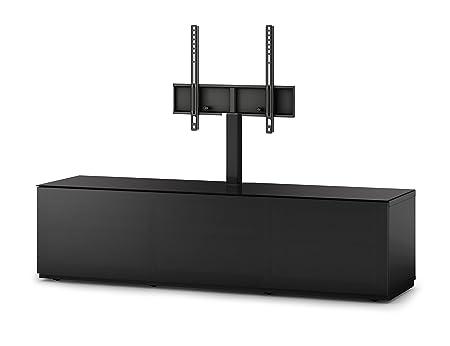 Sonorous STD 261T-BLK-BLK-BS Studio TV-Lowboard fur 177,8 cm (70 Zoll) Fernseher schwarz