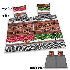 2er Set Schürzenjäger & Zuckerschnecke 4tlg. Partner  Bettwäsche, 70/90 & 140/200 cm Baumwolle / Linon  Spielzeug Kundenbewertung: