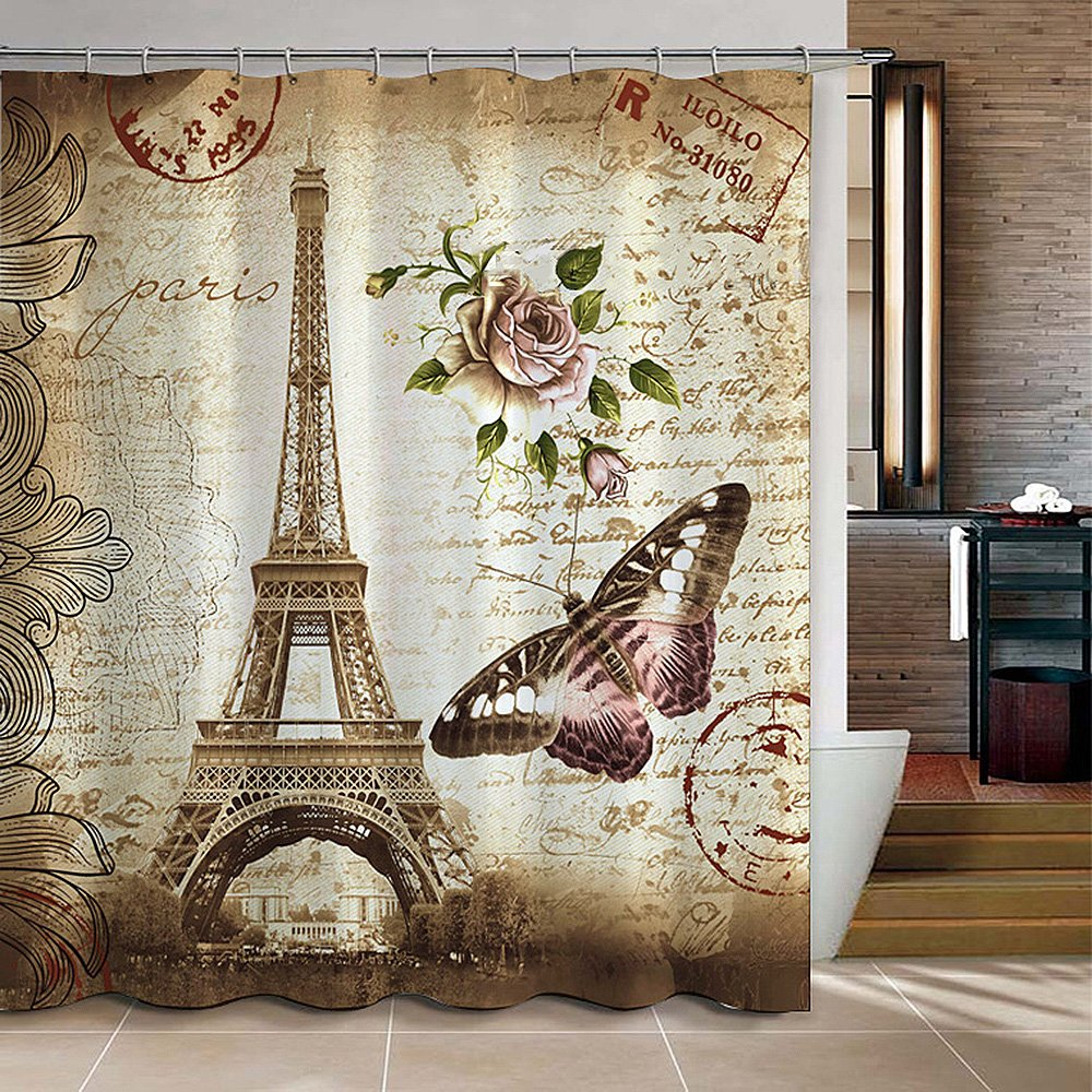 Uphome 72 X 72 Inch Retro Vintage Paris Eiffel Tower ...