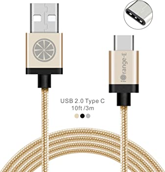 iOrange-E 10' USB Type C to A Braided Cable