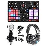 Hercules P32 DJ USB MIDI Mixing DJ Controller Interface w/32-Pads+Headphones+Mic
