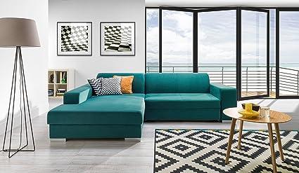 Couchgarnitur Couch COMO Sofa Polsterecke Wohnlandschaft mit Schlaffunktion
