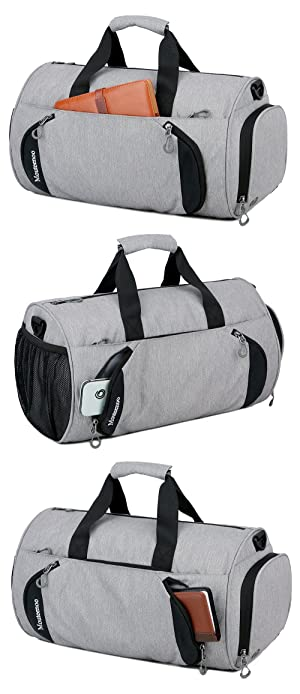 fcac9ade545 Gym Sports Small Duffel Bag for Men and Women with Shoes Compartment -  Mouteenoo (X-Small, ...
