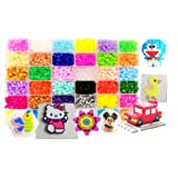 Vytung Fuse Beads Kit-10000 pcs 36 Colors(6 Glow in Dark) 5Peg Boards 89pattern(29 full size) Iron Papers Tweezers Storage Case Perler Beads Compatible Kit (Color: multi, Tamaño: 10000 beads 36 color complete pack)