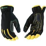 John Deere JD00029 XL Men's Synthetic Leather Hi-Dex Gloves, XL, Black Yellow (1 pair) (Color: Black/Yellow, Tamaño: X-Large)