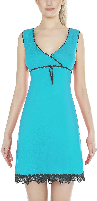 m.Lyra Damen Nachtwäsche Negligee aus Viskose EMELY (XS – 2XL)