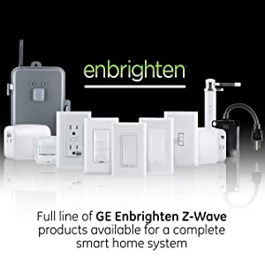 GE Enbrighten Z-Wave Plus Smart Light Switch with QuickFit and SimpleWire, Works with Alexa, Google Assistant, SmartThings, Wink, Zwave Hub Required, Repeater/Range Extender, 3-Way Ready Toggle, 46202 (Color: White, Tamaño: Switch)