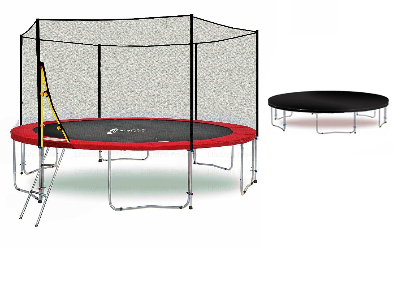 LS-T400-PA13 (RW) LifeStyle ProAktiv Garten- Trampolin 400 cm – 13ft – Extra Starkes Sicherheitsnetz – 180kg Traglast – TÜV/GS/CE kaufen