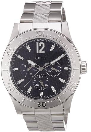 Guess - W12090G1 - Montre Homme - Quartz Analogique - Bracelet Acier  Inoxydable Argent  Guess  Montres. 6a651c2b0d7