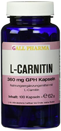 Gall Pharma L-Carnitin 360 mg GPH Kapseln 100 Stuck