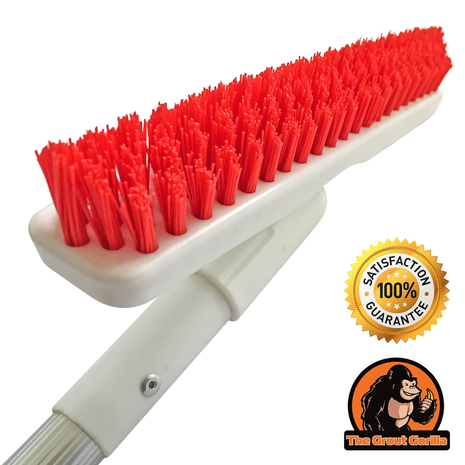 Grout Brush With Long Handle Included! Clean Your Grout While Standing Up In Half The Time! No More On Your Hands & Knees Grout Cleaning Drudgery! THE GROUT GORILLA