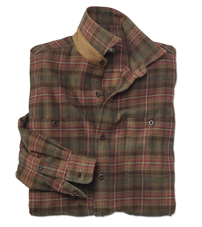 Orvis Men's The Perfect Flannel Shirt, Rust Plaid, Medium