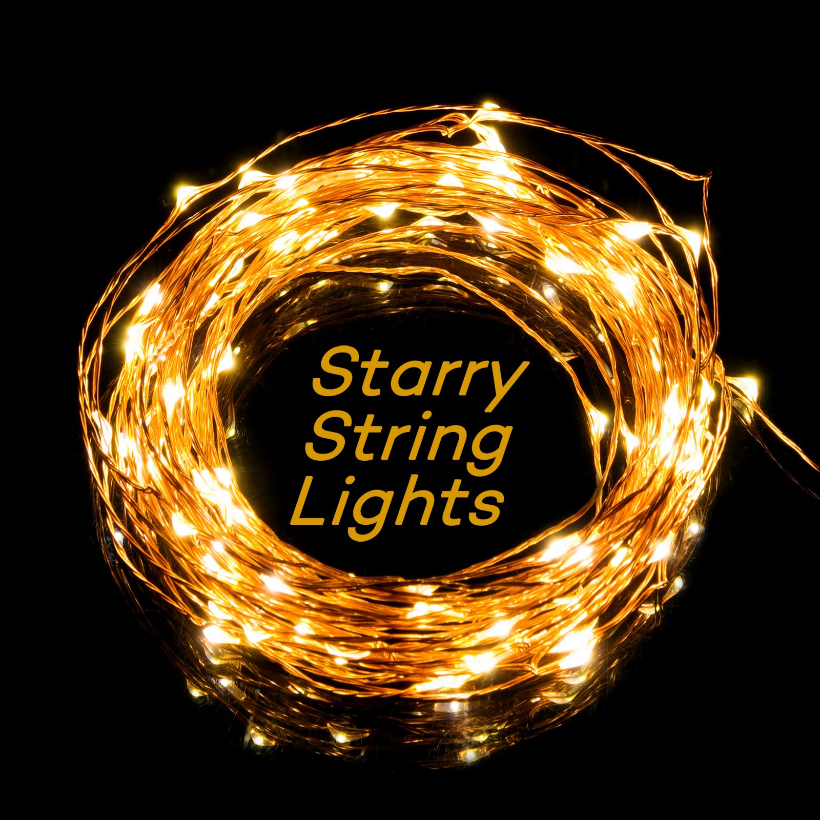 taotronics led string starry light copper wire lights for. Black Bedroom Furniture Sets. Home Design Ideas
