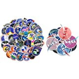 Ratgoo 102 Pcs Waterproof Graffiti Stickers for NASA Space Explorer Astronaut Spaceman Spacecraft for Computer Laptop Phone Water Bottle Hydro Flask Car Bicycle Helmet Bumper Skateboard Luggage Case (Color: NASA)
