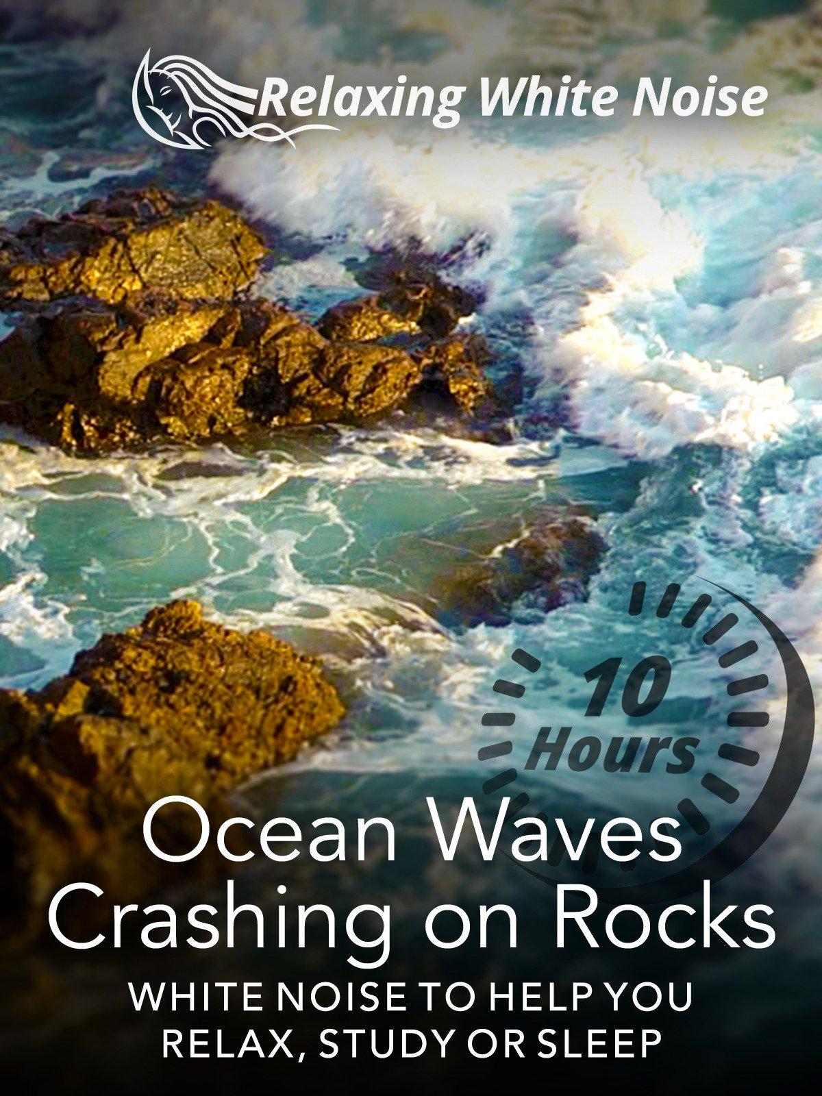 Ocean Waves Crashing on Rocks 10 Hours