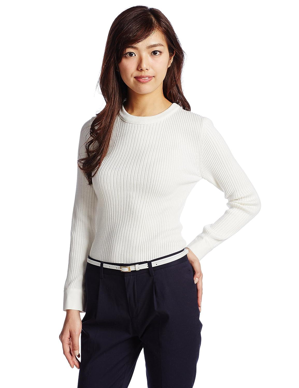 Amazon.co.jp: (ミラオーウェン)Mila Owen カフス付リブニットPO 09WNT151232 3 IVR F: 服&ファッション小物通販