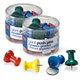 Officemate Giant Push Pins, 1.5