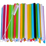 Harileminy Pack of 100 Pieces 8 inch Long Assorted Bright Color Jumbo Smoothie Straws Extra-Wide Drinking Straws for Boba Bubble Tea,Milkshakes Slushies Party Straws,Healthy Drinks Disposable (Color: 8 Inch 10mm Wide, Tamaño: 8 Inch 10MM Wide)