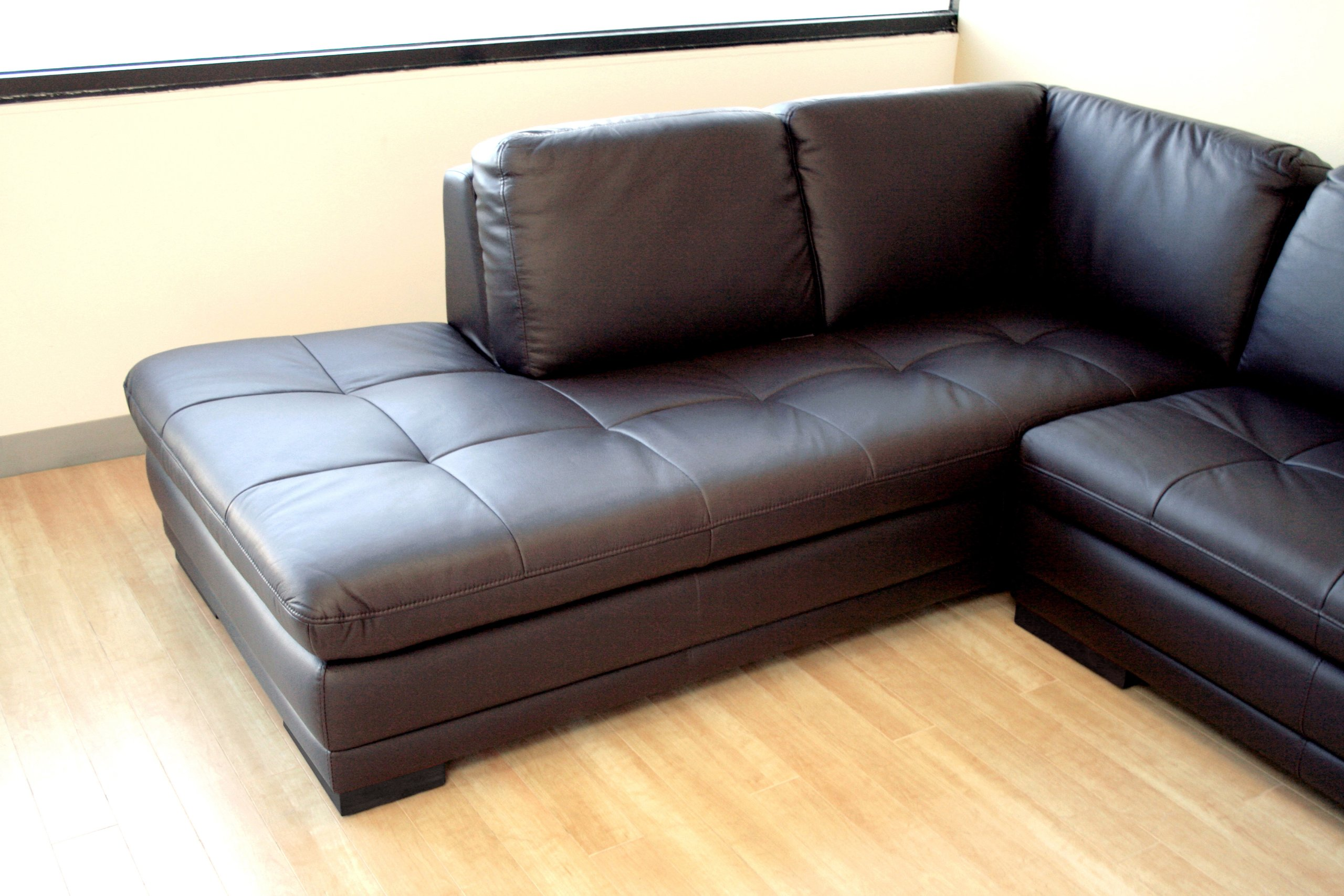 Piece Dark Brown Leather Sofa Sectional
