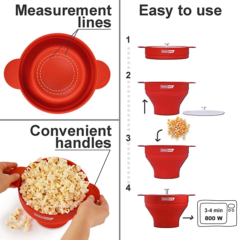 Premium Microwave Popcorn Maker by Thomas Rush via Amazon