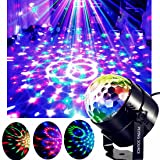 Party Lights Disco Ball Projector Stage Crystal Lamp 7 Modes Patterns with Remote for Holidays, Home Party,Bar,DJ,KTV,Birthday (3 Colors)