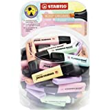 Highlighter - STABILO BOSS ORIGINAL Pastel Bonbon Display of 60 in 6 Assorted Colours
