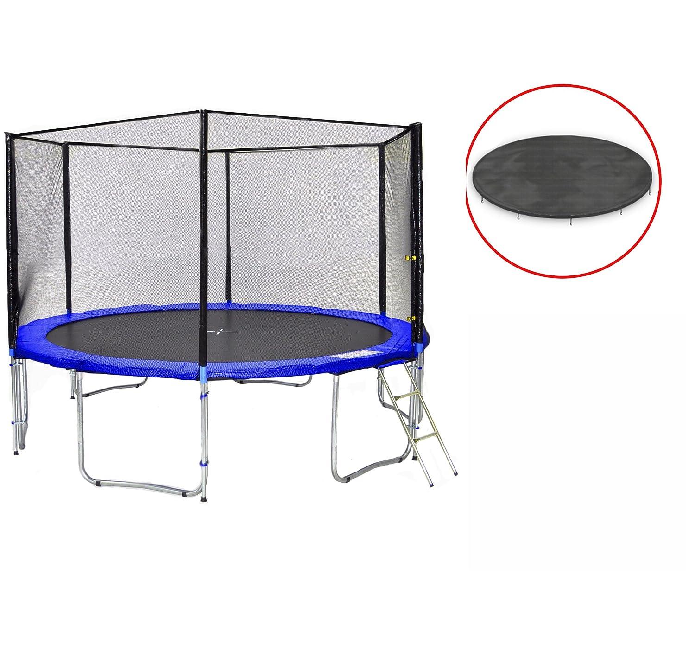 SB-370-BW Gartentrampolin 370cm incl. Netz, Leiter, Wetterplane 180kg günstig online kaufen