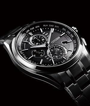 [シチズン]CITIZEN 腕時計 ATTESA アテッサ Eco-Drive エコ・ドライブ 電波時計 ダイレクトフライト 針表示式 薄型 マスコミモデル AT8040-57E メンズ
