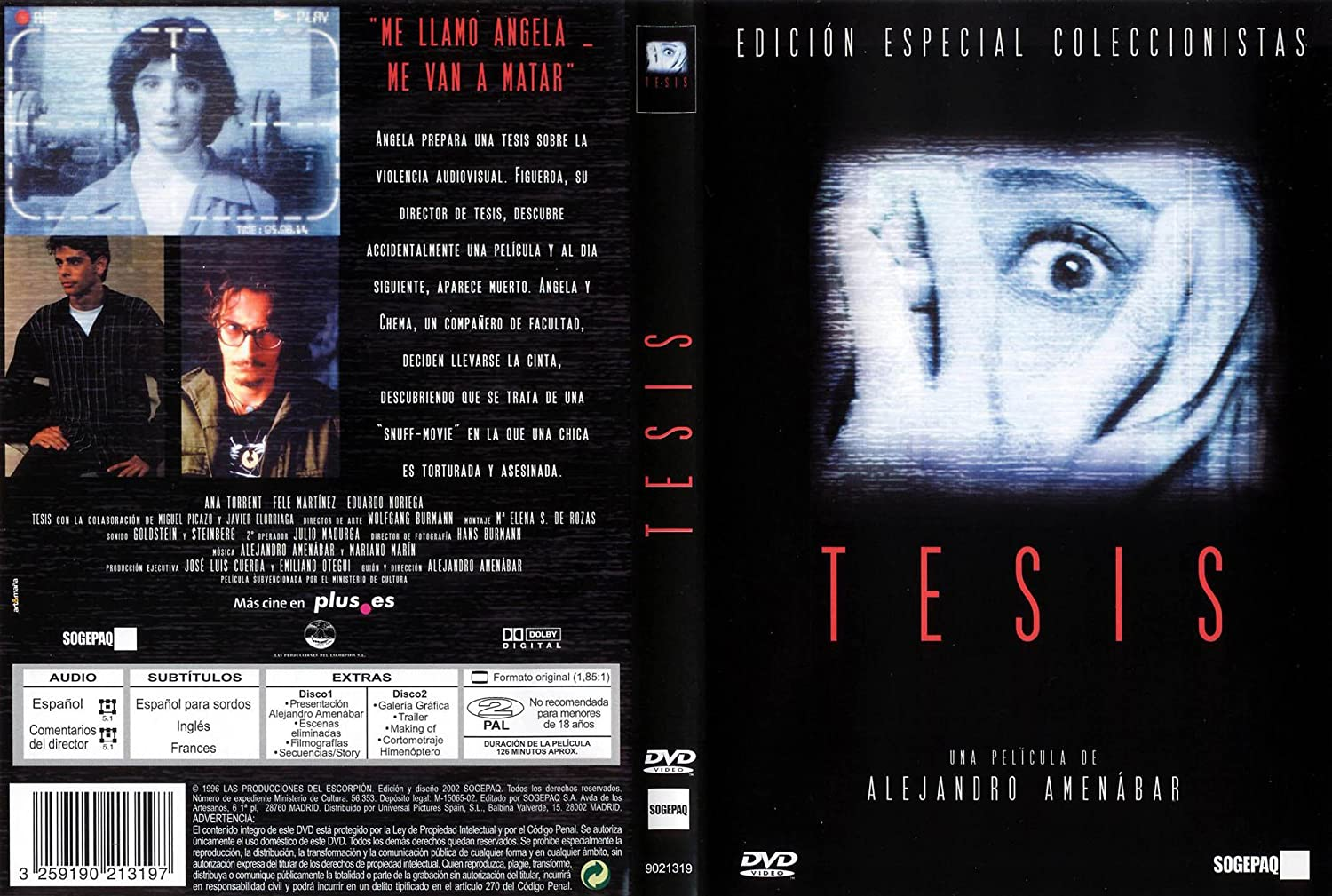 thesis the movie While doing a thesis about violence, Ángela finds a snuff video where a girl is tortured until death soon she discovers that the girl was a former student in her faculty.