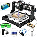 VEVOR CNC 3018 Pro 15000mW CNC Machine 300×180×45mm CNC 3018-PRO Router Kit 3 Axis GRBL Control With Offline Controller for Carving Milling Plastic Acrylic PVC Wood(15W) (Tamaño: 15000mW)