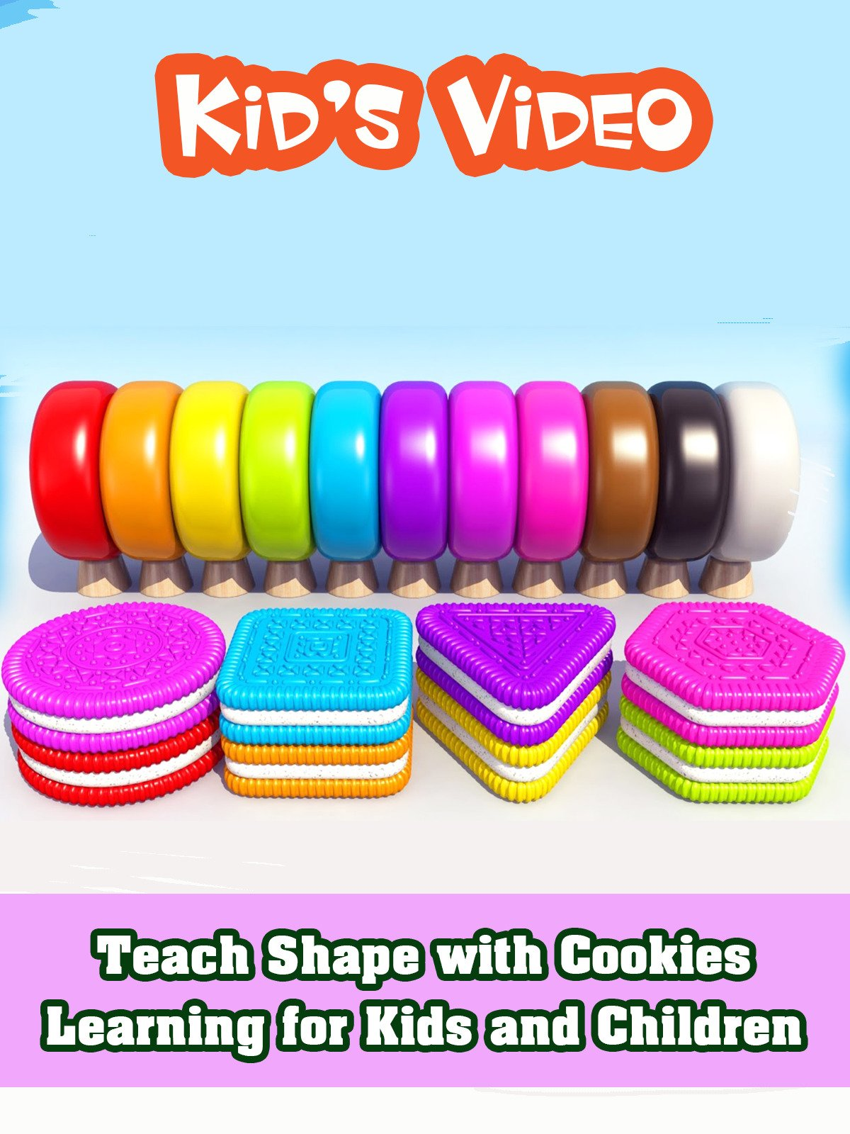 Teach Shape with Cookies Learning for Kids and Children