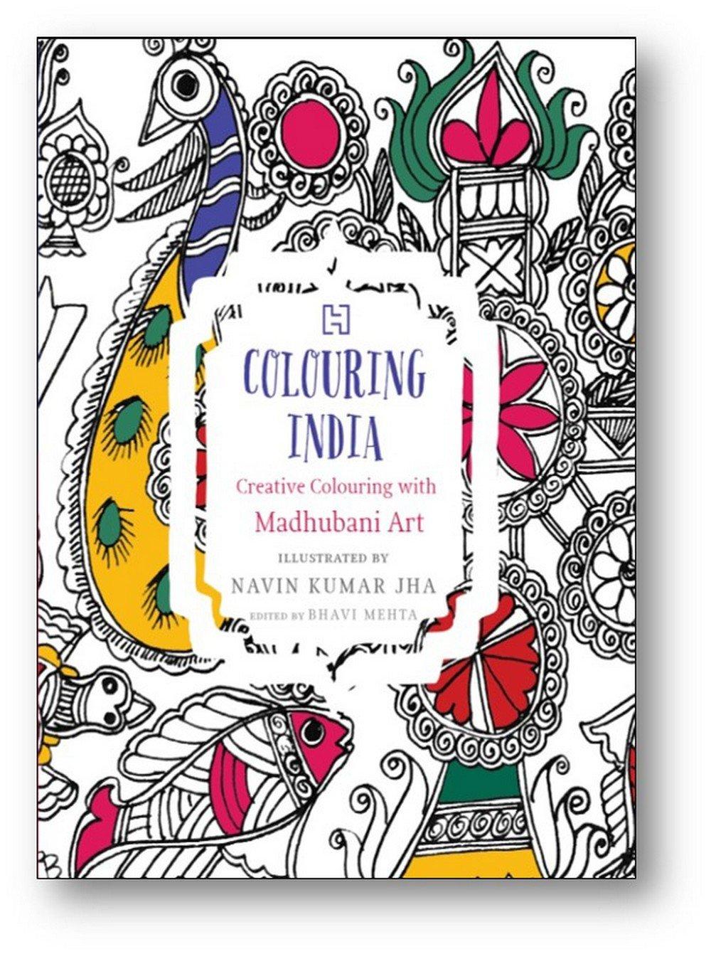 buy varnikaa madhubani themed tear out colouring book for
