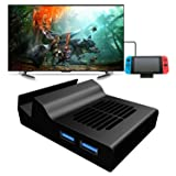 Portable Dock for Nintendo Switch, MENEEA Replacement Dock with Electronic Chip for Nintendo Switch (with Chip) (Color: Portable Dock, Tamaño: Charge Docks)