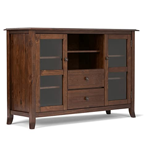 Simpli Home 3AXCDEV-06 Devon Tall TV Media Stand, Holz, medium mahogany braun, 137.16 x 44.45 x 91.44 cm